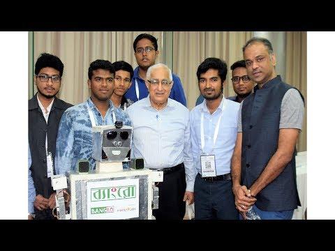 Jamilur Reza Choudhury Talking with Bangladeshi Robot Bangro - জামিলুর রেজা চৌধুরী এবং ব্যাংরো