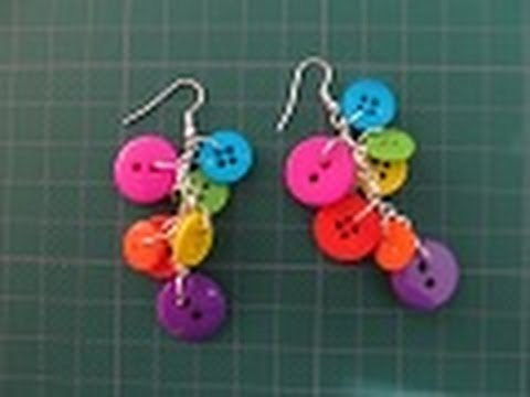 081ba706c3bb Bisuteria  Aretes de BOTONES!   Colección Be-different   - YouTube