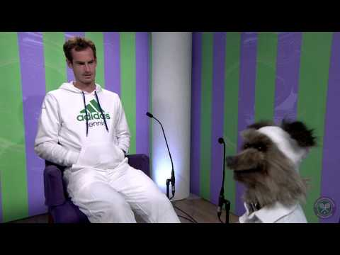 Andy Murray meets Hacker T. Dog