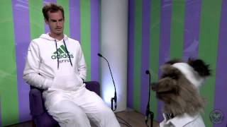 Andy Murray meets Hacker T. Dog - Wimbledon 2014