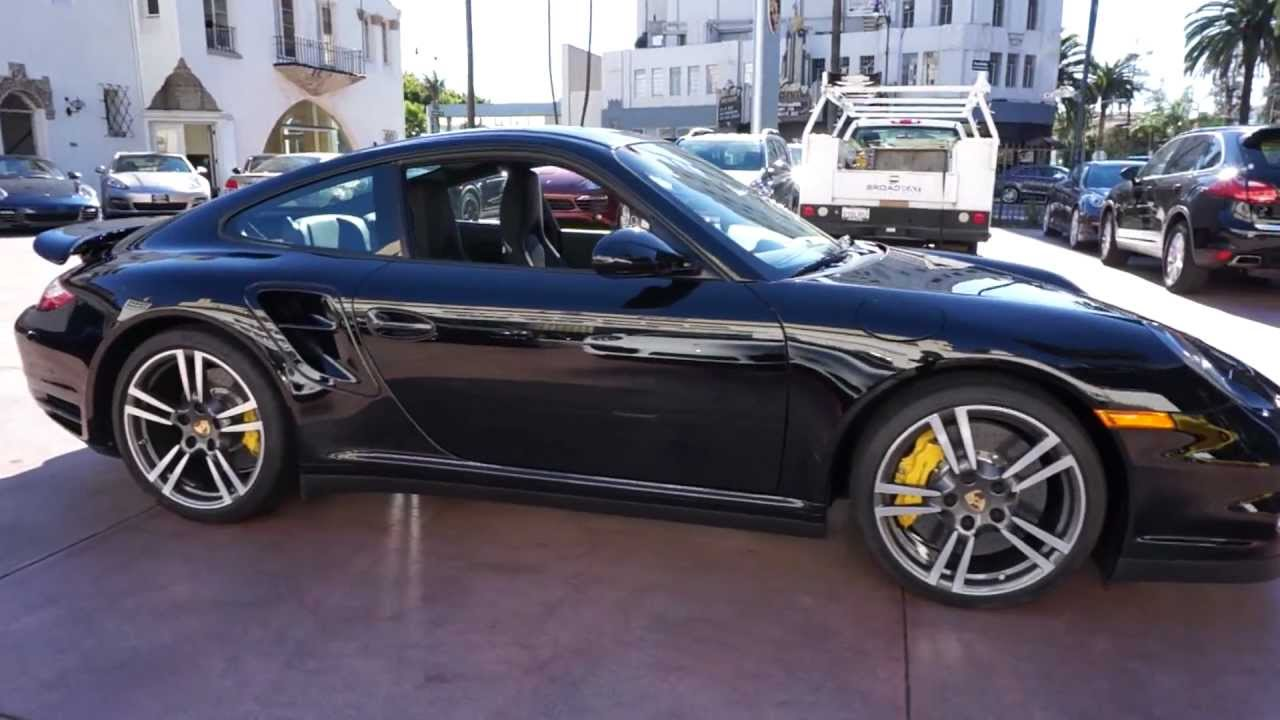 2012 porsche 911 turbo s coupe black on black in beverly hills for sale best offer youtube