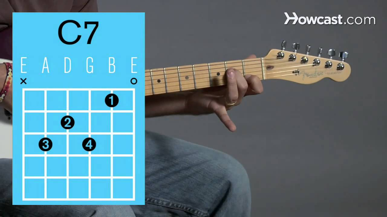 How to Play a C7 Open Chord | Guitar Lessons - YouTube