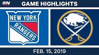 NHL Highlights | Rangers vs. Sabres - Feb 15, 2019