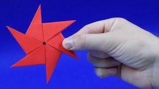 Как сделать сюрикен из бумаги. Оригами сюрикен из бумаги. How To Make a Paper Ninja Star Shuriken