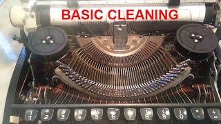 Typewriter type face slug bar segment cleaning demo tutorial detailed