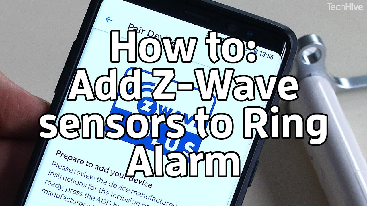 How to add Z-Wave sensors to Ring Alarm
