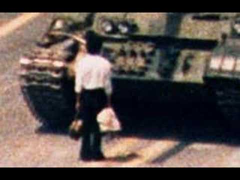 Tiananmen Square - Holding Up A Tank