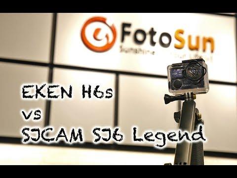EKEN H6s vs SJCAM SJ6 Legend - Comparison video, sound & image