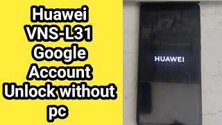 Huawei P9 lite Frp Bypass without pc 2020 / Vns-l31 Google Account Unlock without pc 2020 /