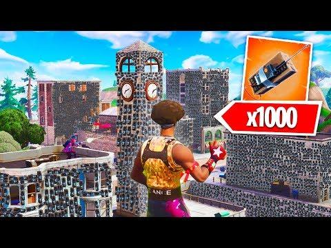 1,000 C4 Vs. Tilted Towers In Fortnite Battle Royale