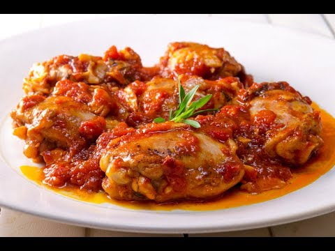 Baked chicken legs with tomato sauce recipes