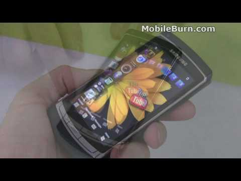 Samsung i8910 OmniaHD live demo video