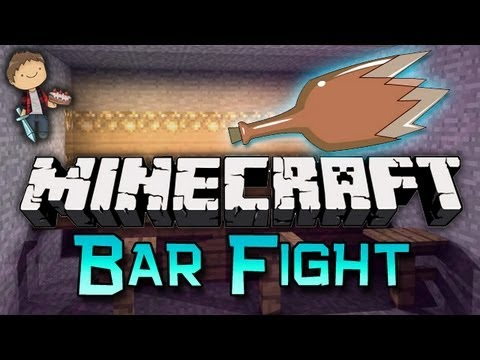 Minecraft: BAR FIGHT Mini-Game w/Mitch, Jerome and Quentin!