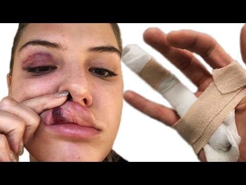 YouTuber FaZe Banks Breaks Hand During Alissa Violet ATTACK - Barley House Cleveland
