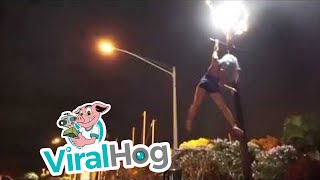 Tricks on a Lamppost || ViralHog