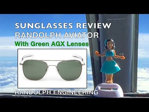 REVIEW:Randolph Aviator Sunglasses with AGX Green Lenses Featuring AF056 & AF096