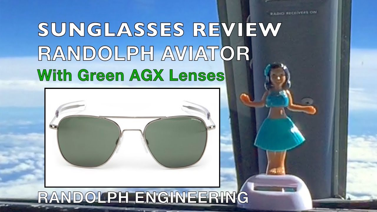 abf2df11cd REVIEW Randolph Aviator Sunglasses with AGX Green Lenses Featuring AF056    AF096
