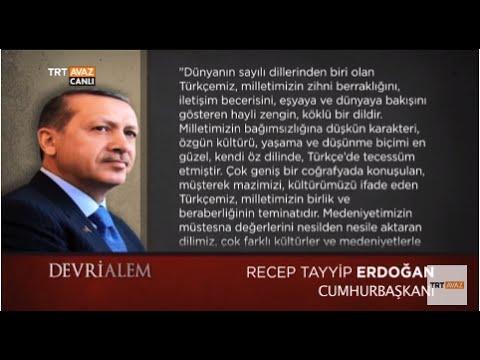 Türk Dil Bayramı'nda Cumhurbaşkanı Erdoğan'ın Mesajı - Devrialem - TRT Avaz