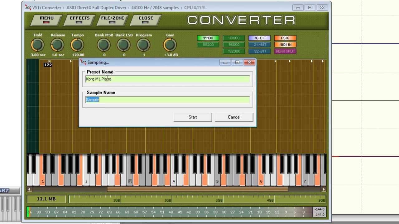 Realizar Sample a teclado con inteface MIDI y Extreme Sample ...