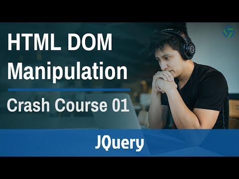 JQuery HTML DOM Manipulation Crash Course 2019 [Part 1] thumbnail