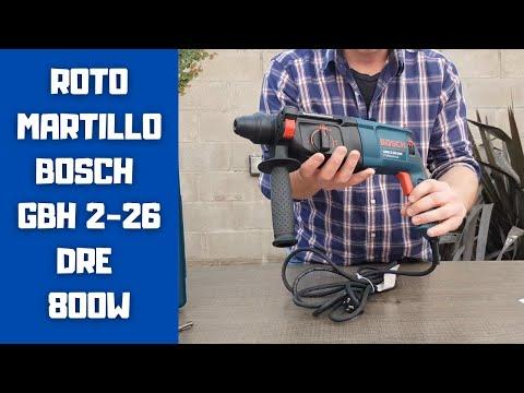Presentacion Rotomartillo Bosch GBH 2-26 DRE 800W -PUNTOMAQ-