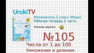 Задание №105 Числа от 1 до100. Умножение… - ГДЗ по Математике 2 класс (Моро) Рабочая тетрадь 2 часть