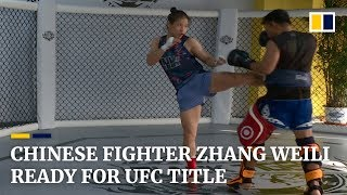 Chinese fighter Zhang Weili ready for UFC title