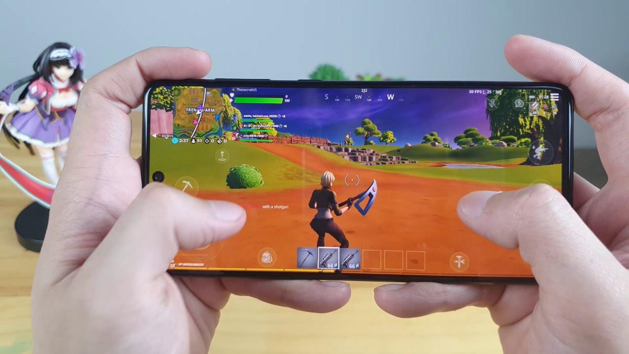 Samsung A71 test game Fortnite