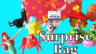 Surprise Kids Meal Happy Meal Collection Surprise Kinder Toys Ariel Disney Mermaid car