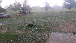 Hailing in Eakly Oklahoma