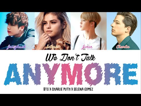 BTS (Jimin x Jungkook) x Selena x Charlie - We Don't Talk Anymore (Color Coded Lyrics/Eng)
