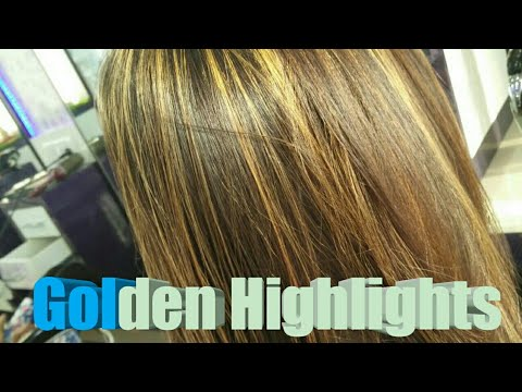 Golden Highlights / Blonde colour / L\'Oreal Hair colouring /indian hair
