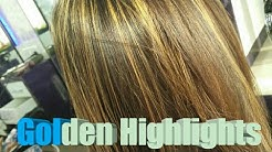 Golden Highlights / Blonde colour / L'Oreal Hair colouring /indian hair