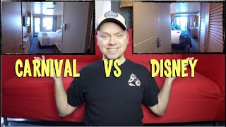 Comparing Cruise Cabins - Disney to Carnival - Sunday Sofatime