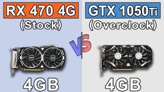 RX 470 (4GB) Stock vs GTX 1050 Ti (4GB) Overclock | New Games Benchmarks