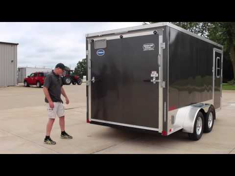 United XLMTV 7X14 Motorcycle Trailer Wright Way Trailers