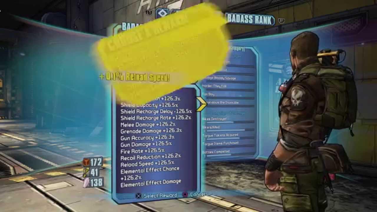 Infinite/Unlimited badass token glitch borderlands 2 PS4