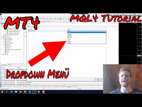 Dropdown Menü für deinen MT4 Expert Advisor | MQL4 Tutorial