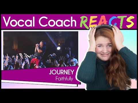 Vocal Coach reacts to Journey - Faithfully ( Arnel Pineda Live in Manila)