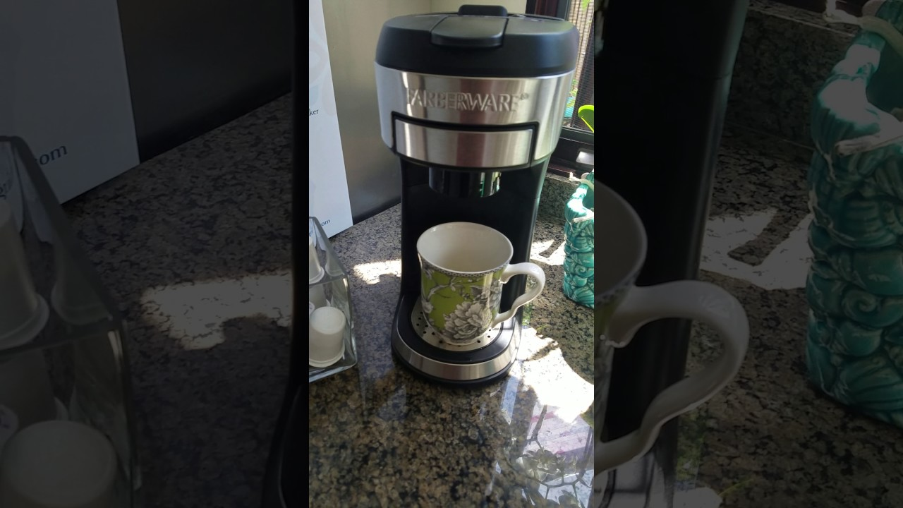 How To Use The Farberware One Cup Coffee Maker
