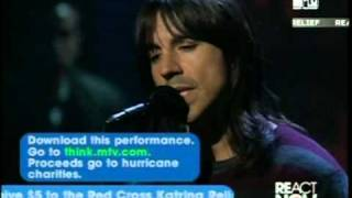 "Red Hot Chili Peppers - Under The bridge (Live, ""Katrina"" hurricane 2005)"
