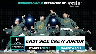 East Side Crew Junior | 1st Place Jr Team | Winners Circle | World of Dance Warsaw 2019 | #WODWAW19