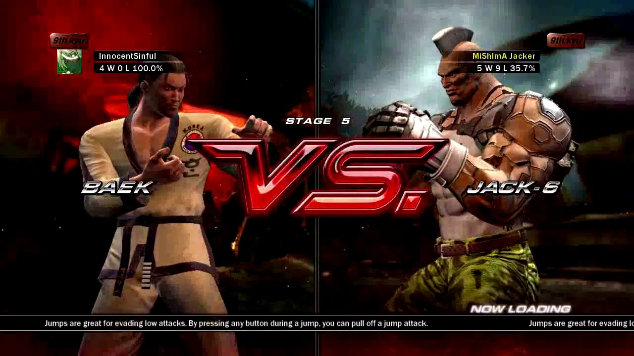 Tekken 6 Xbox 360 Arcade Battle As Baek Youtube