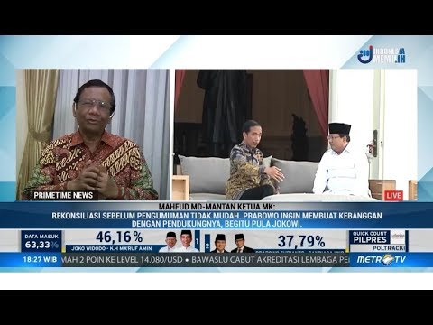 Mahfud MD: Berharap Jokowi dan Prabowo Bisa Bertemu Demi Ketenangan Pasca-Pemilu