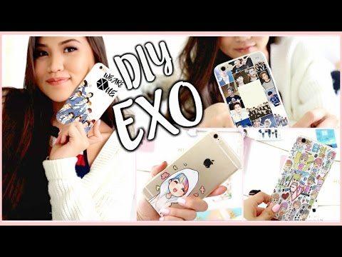 DIY KPOP PHONE CASES PT.2 (EXO EDITION) |OnlyKelly