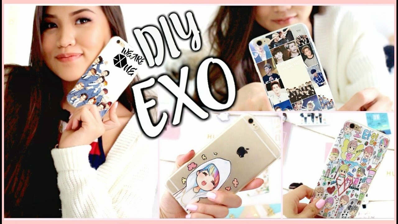 Diy Kpop Book Cover : Diy kpop phone cases pt exo edition onlykelly youtube