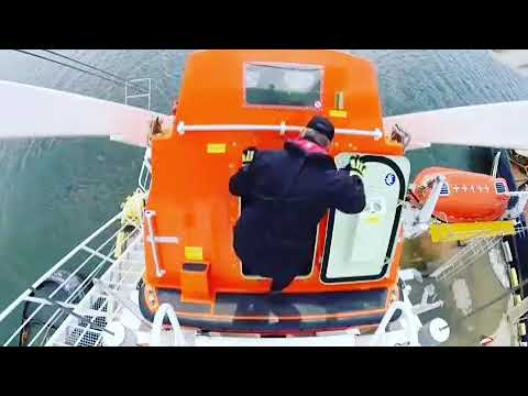 Merchant Marine , Free fall lifeboat launching, Amazing