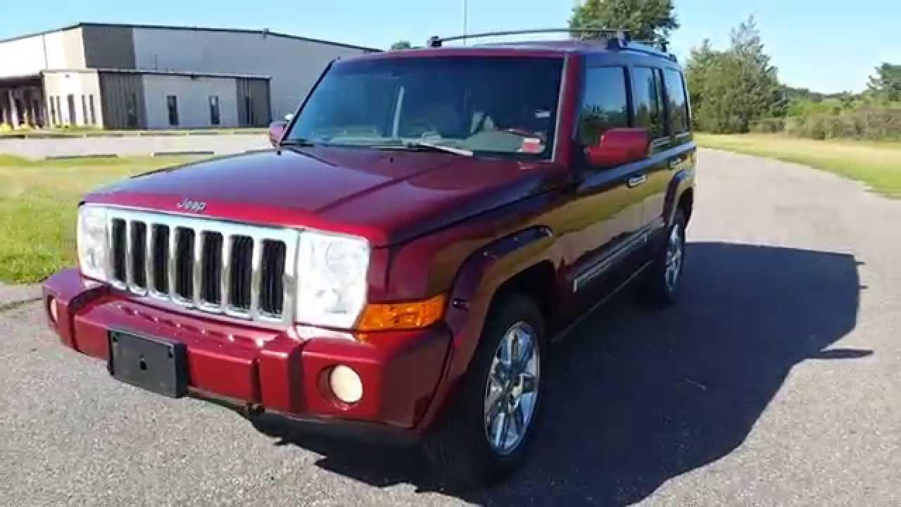 2008 jeep commander overland 4x4 for sale leather dvd navi loaded youtube. Black Bedroom Furniture Sets. Home Design Ideas