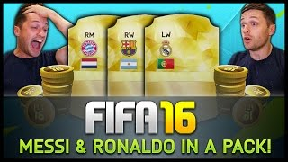 MESSI & RONALDO IN A PACK!!! - Fifa 16 Ultimate Team