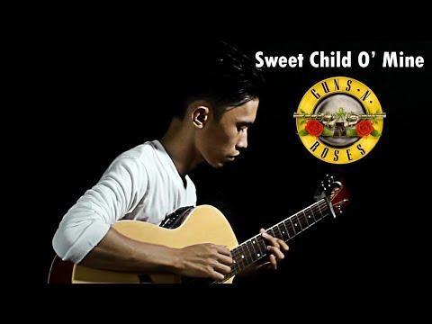 Sweet Child O' Mine - Guns N' Roses ( Fingerstyle Guitar Cover) Free Tab
